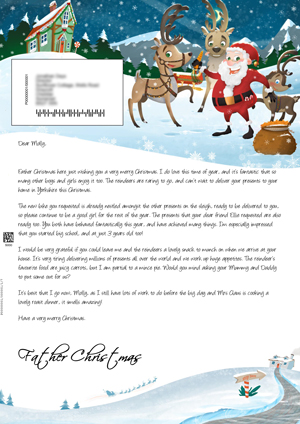 Big santa letter personalised letters from santa claus santa outside with the reindeers personalised santa letter background spiritdancerdesigns Gallery