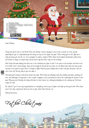 Big santa letter personalised letters from santa claus santa having a snack personalised santa letter background spiritdancerdesigns Gallery