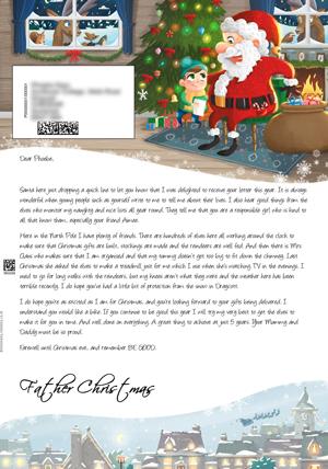 Big santa letter personalised letters from santa claus santa in his grotto personalised santa letter background spiritdancerdesigns Gallery